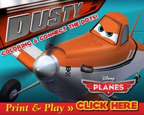 Disney's Planes – Free Activity Sheets