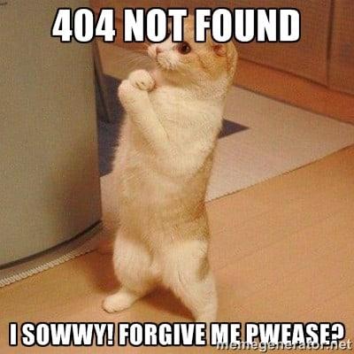 Error 404 – Page Not Found