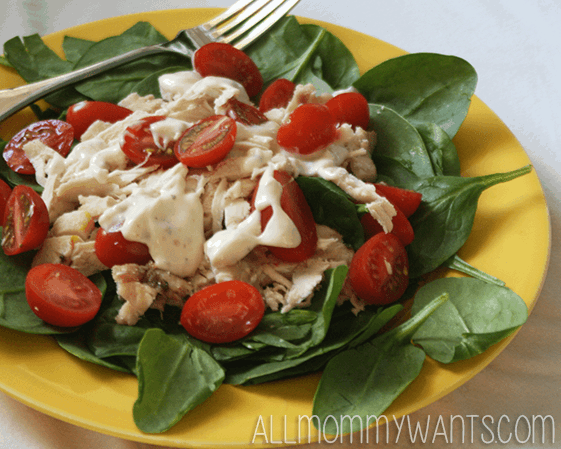 Crock Pot Recipe – Chicken Salad With Cherry Tomatoes: 4 Weight Watchers Points