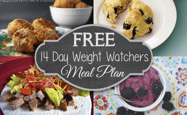 Free 14 Day Weight Watchers Meal Plan (recipe Round Up)!