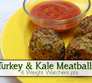 """Weight Watcher Friendly Turkey & Kale Meatballs (or """"how I Got My Family To Eat Kale"""")"""
