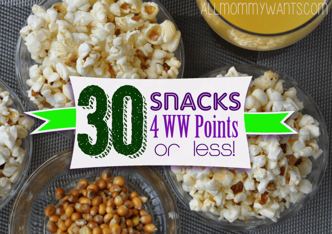 30 Grab & Go Snacks – All 4 Weight Watchers Points Or Less!