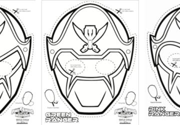 Super Mega Power Rangers Printable – Coloring Masks