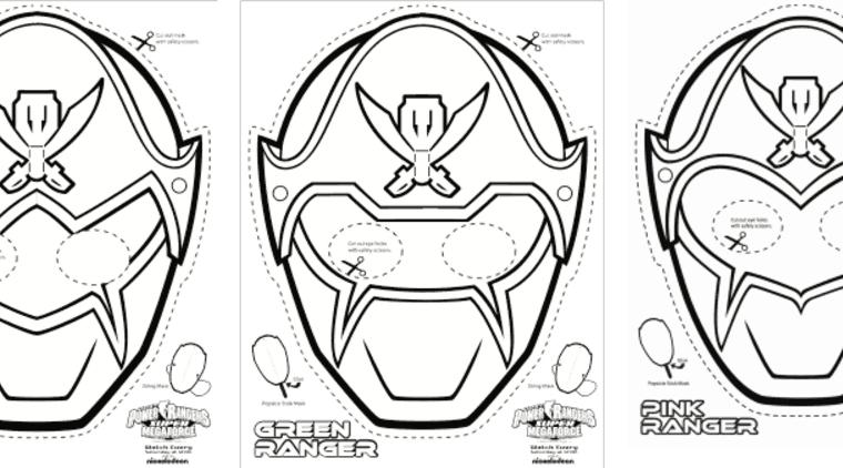 Super Mega Power Rangers Printable Coloring Masks Life She Has
