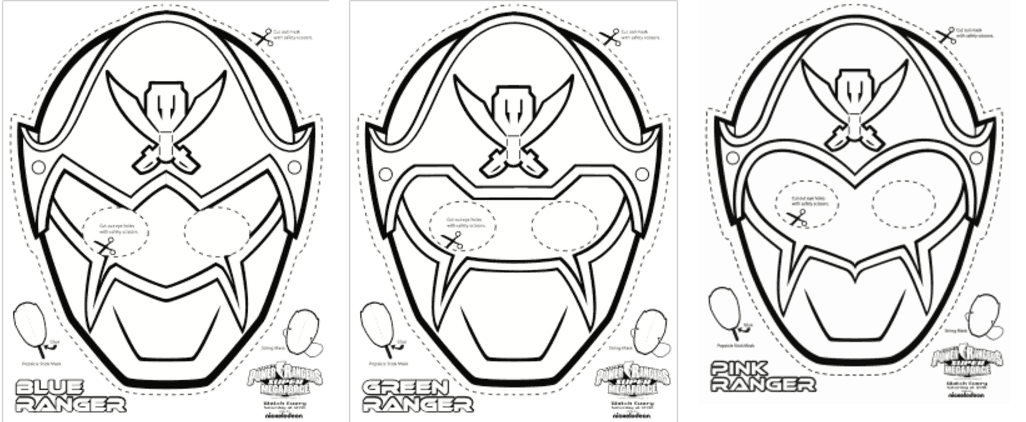 This is an image of Printable Mask with iron man
