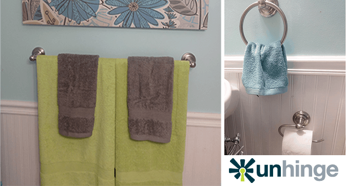 Easy Bathroom Makeover With Unhinge Hardware