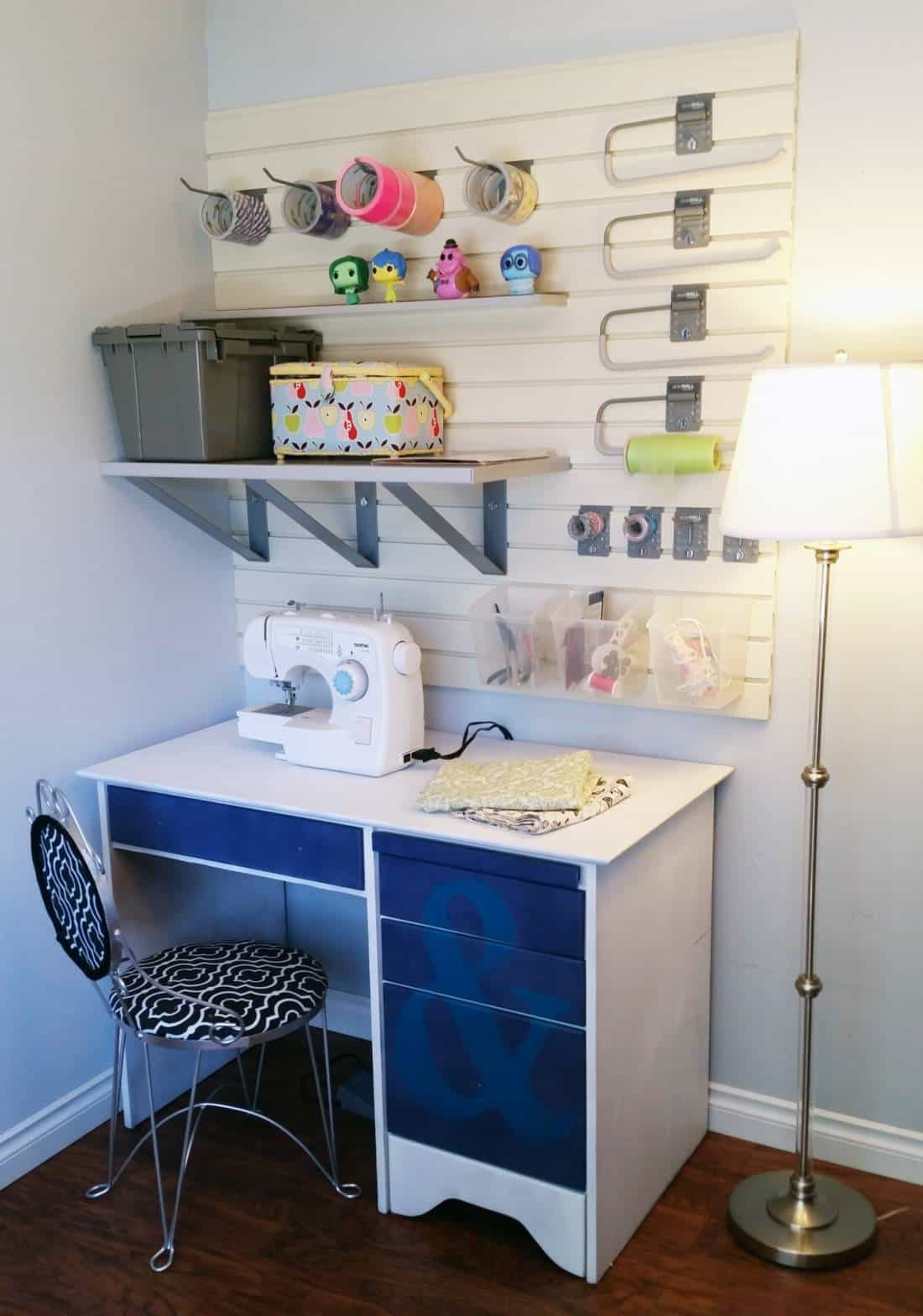 Diy – My New Craft Corner! Reclaimed Desk Plus Ideas For Storage & Design