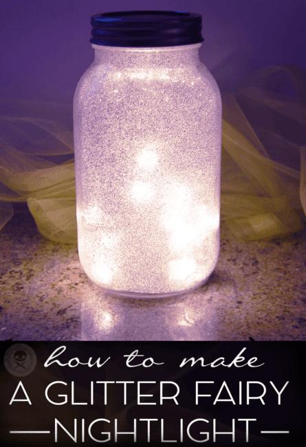 diy glitter fairy mason jar nightlight video