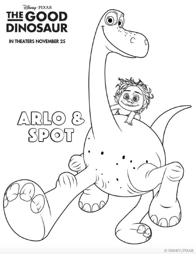 Printables: Coloring Sheets & Activity Sets From Disney Pixar's The Good Dinosaur
