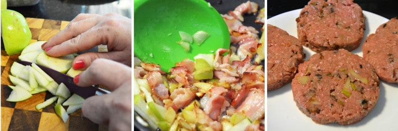 Recipe: Lettuce Wrapped Turkey Burgers With Apple & Bacon (6 Ww Pp)