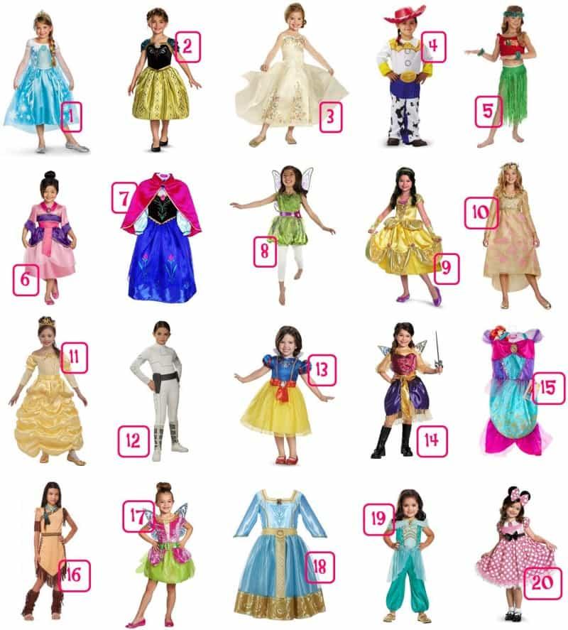 20 Disney Girl's Halloween Costumes Under