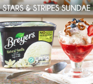 Dessert Recipe: Stars And Stripes Sundae