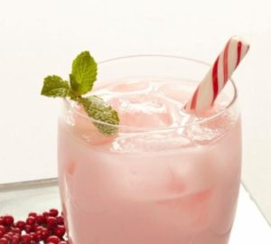 Candy Cane Cooler Cocktail