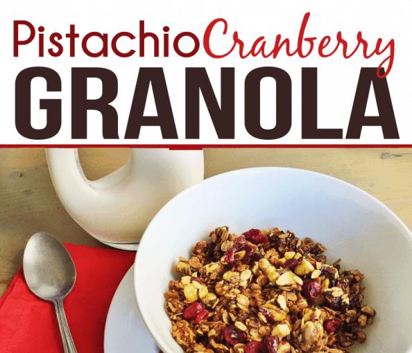 Recipe: Pistachio Cranberry Granola