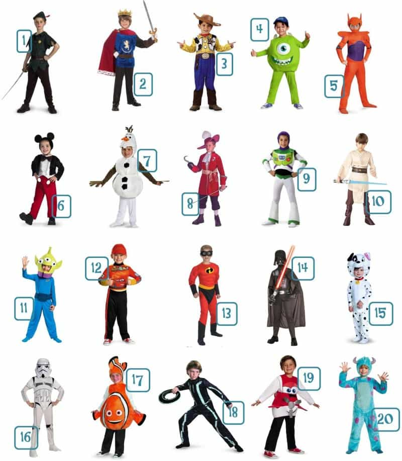 Roundup – 20 Disney Halloween Costumes For Boys – All Under