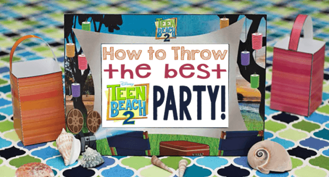 Throw The Best Teen Beach 2 Party (or Any Beach Themed Party) With These Ideas & Free Downloads! #teenbeach2event