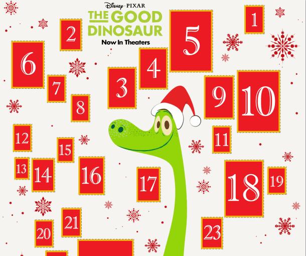 Printable: The Good Dinosaur Advent Calendar