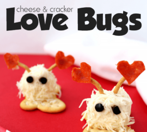 Make These Adorable Cheese & Cracker Love Bugs For Valentine's Day