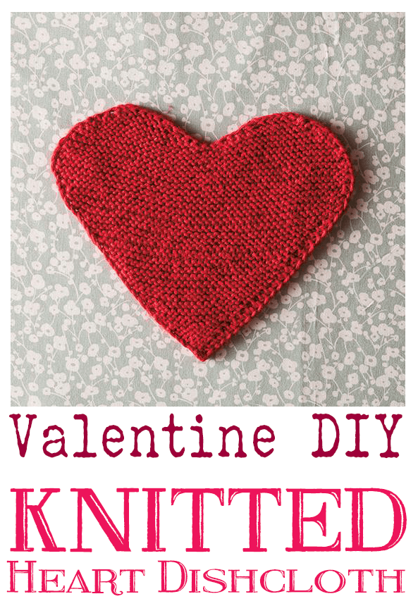 Knit This Easy And Cute Heart Dishcloth In No Time!