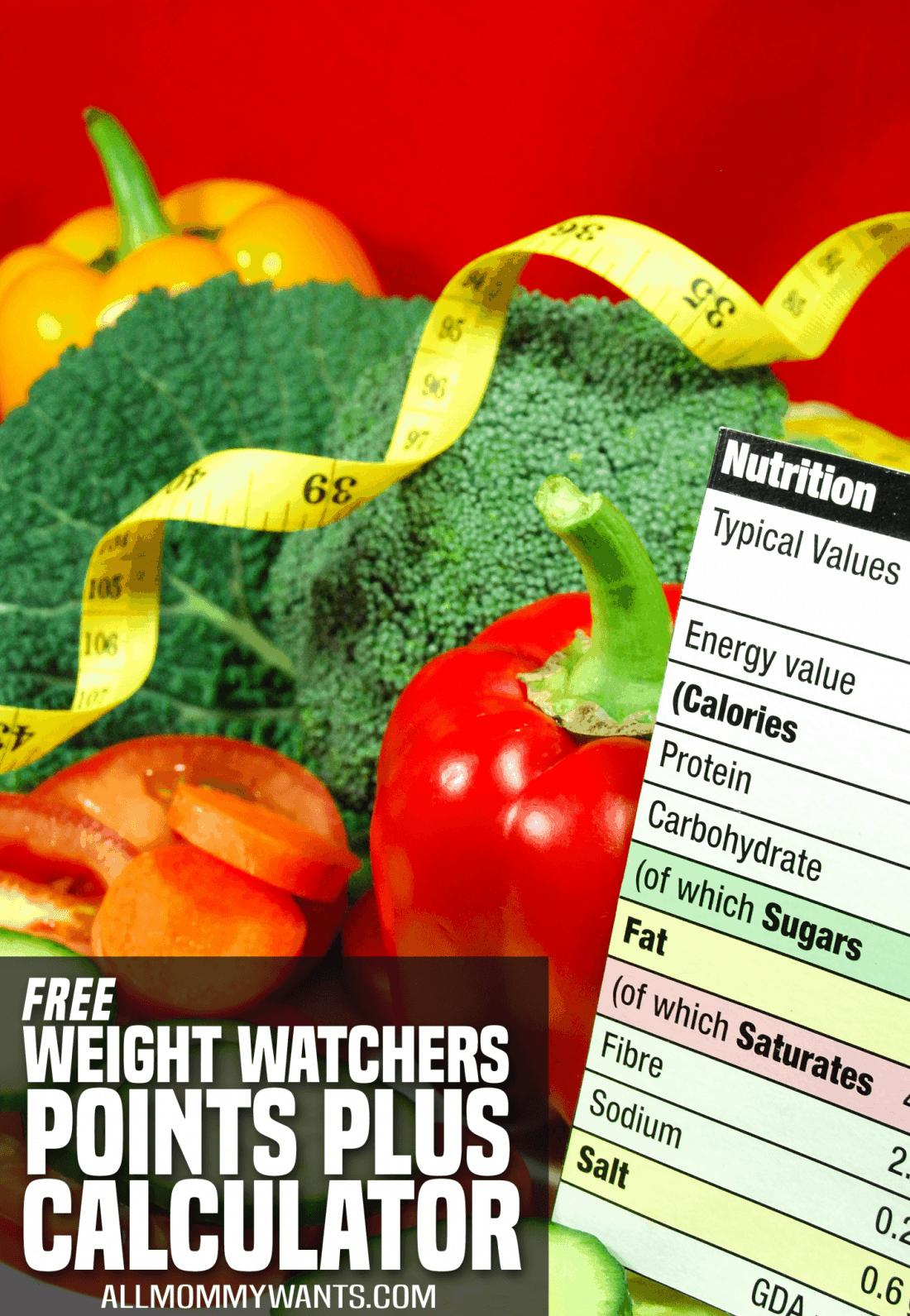 Free Weight Watchers Points Plus & Smartpoints Calculators