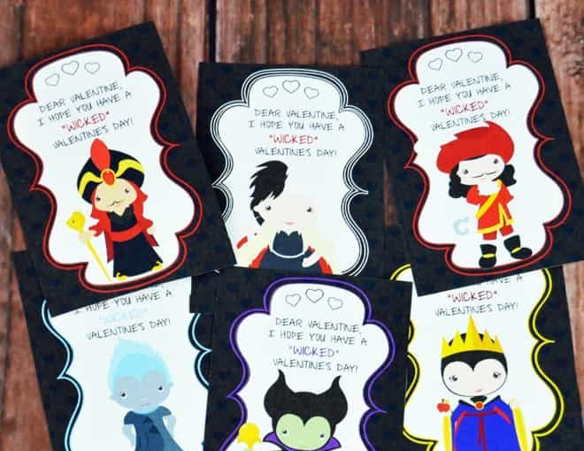 Get A Little Wicked With These Disney Villains Printable Valentines