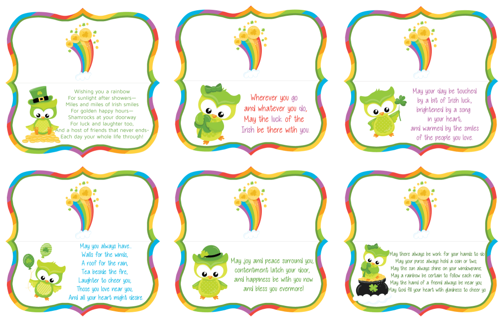 Printables: St. Patricks's Day Treat Bag Toppers