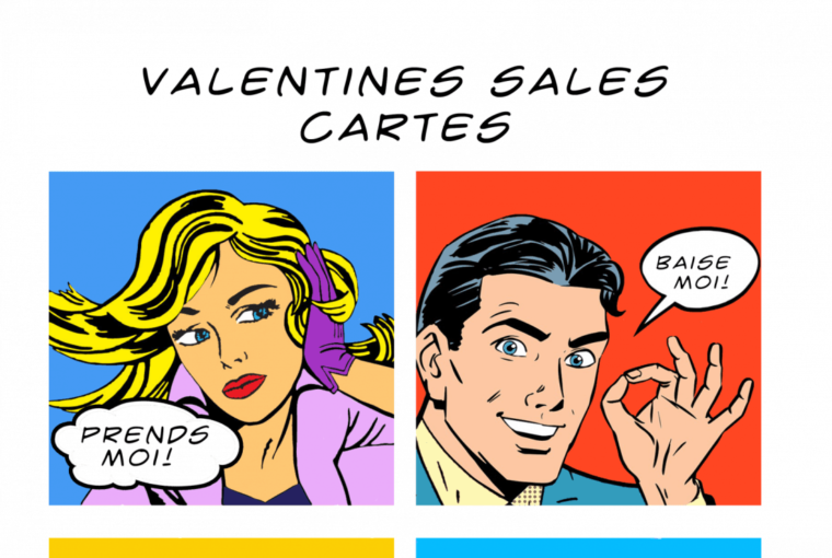 Valentines For Grownups – Say Naughty Things In French With These Printable Valentines