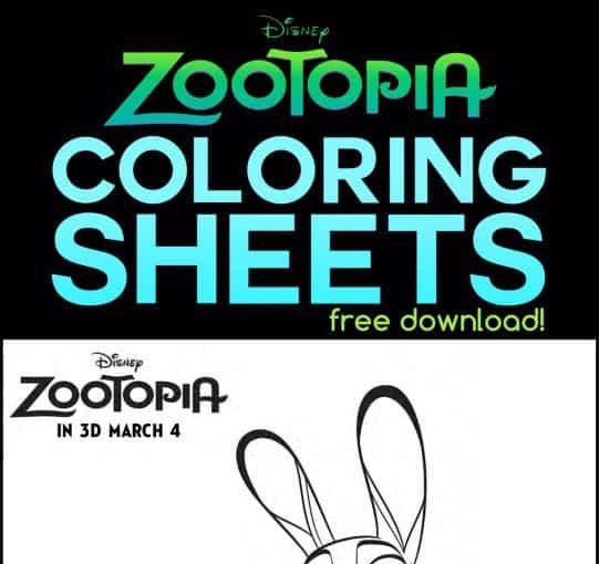 Printables: Zootopia Coloring Sheets