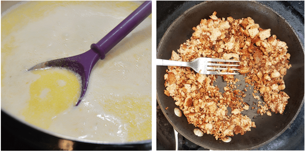 This Homemade Mac & Cheese With 3 Cheeses, Bacon & Breadcrumbs Is To Die For
