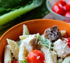 Make This Amazing Chicken Caesar Pasta Salad For Your Next Party