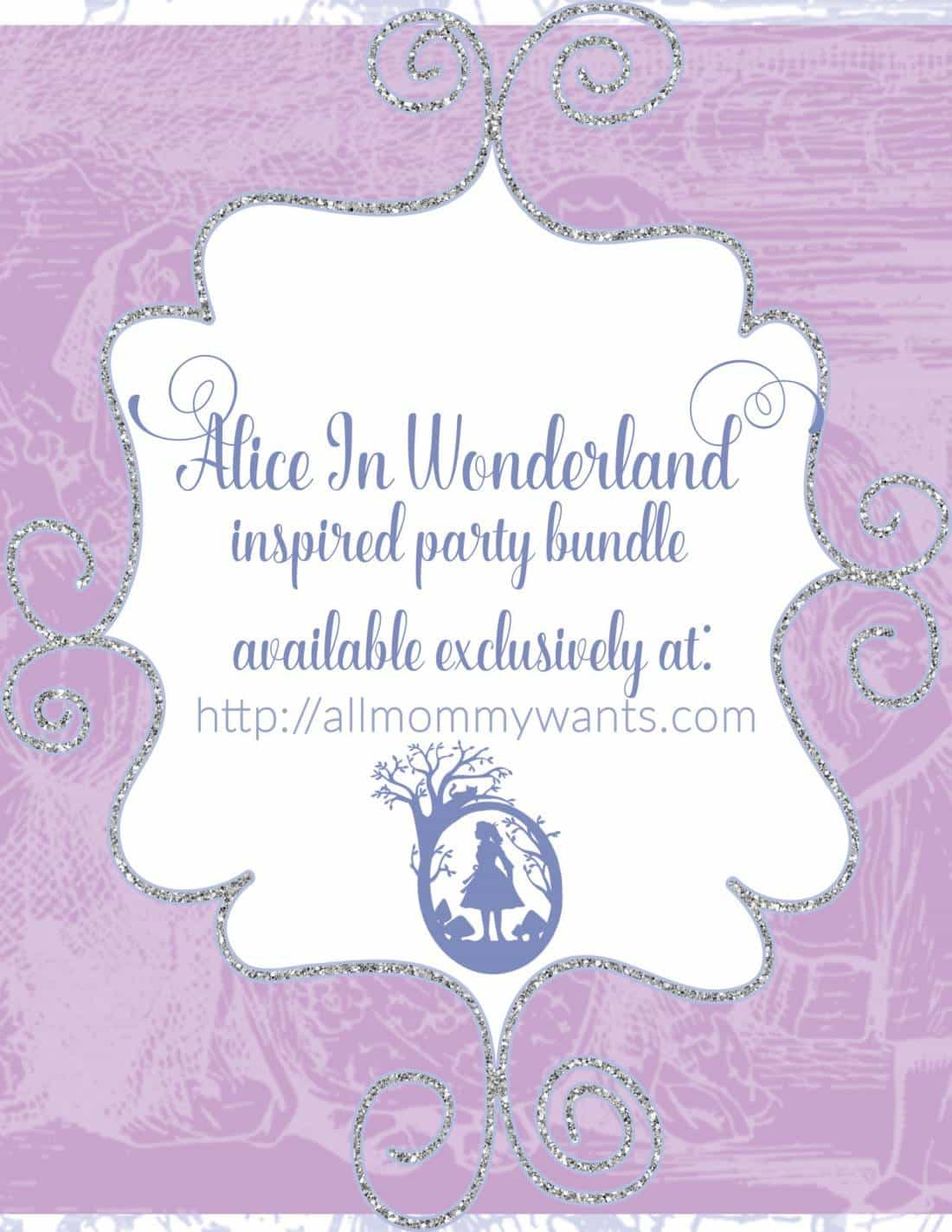 Free Printables – Alice In Wonderland Themed Party Printables