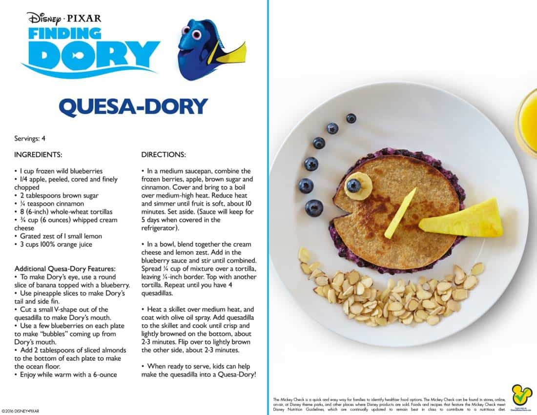 5 Recipes Kids Will Love Inspired By Disney's Finding Dory
