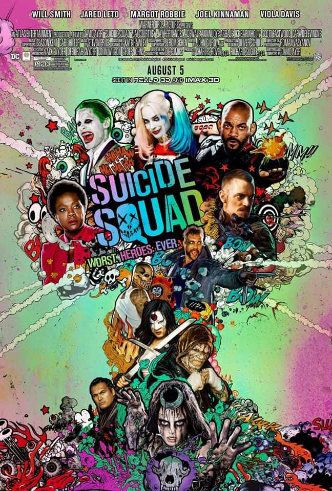 New Poster – Suicide Squad Plus Some Cocktails Inspired By The Film