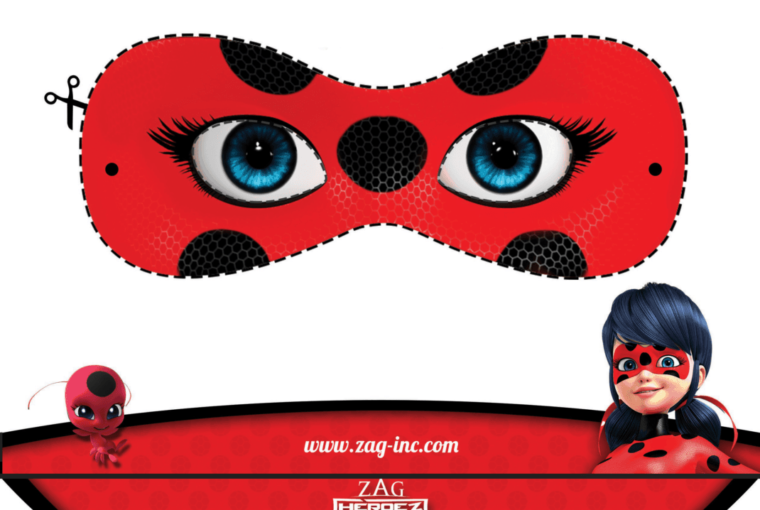 Printables: Miraculous Adventures Of Ladybug And Cat Noir Masks