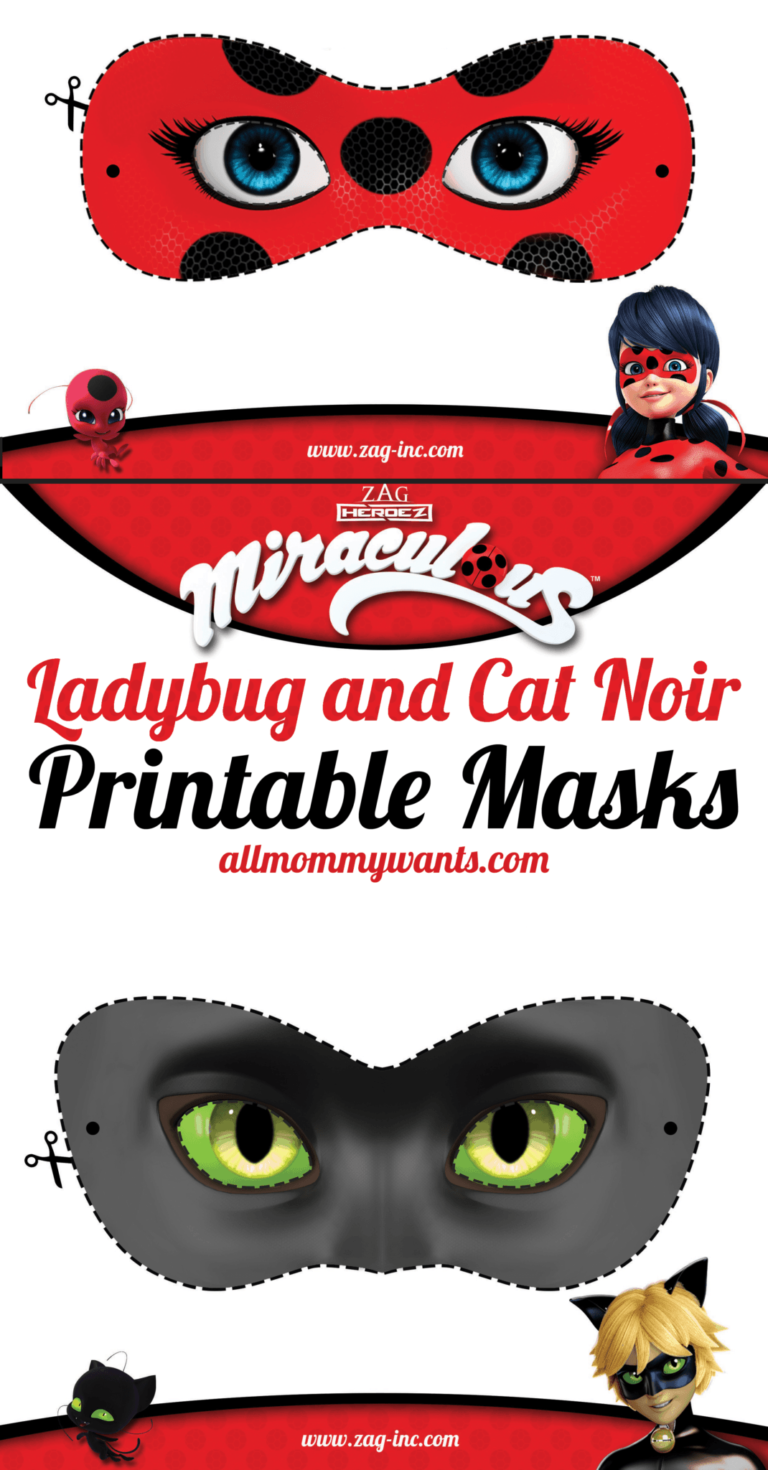 Printables: Miraculous Adventures Of Ladybug And Cat Noir Masks | Life She  Has