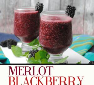 Merlot Blackberry Slushies Summer Cocktail