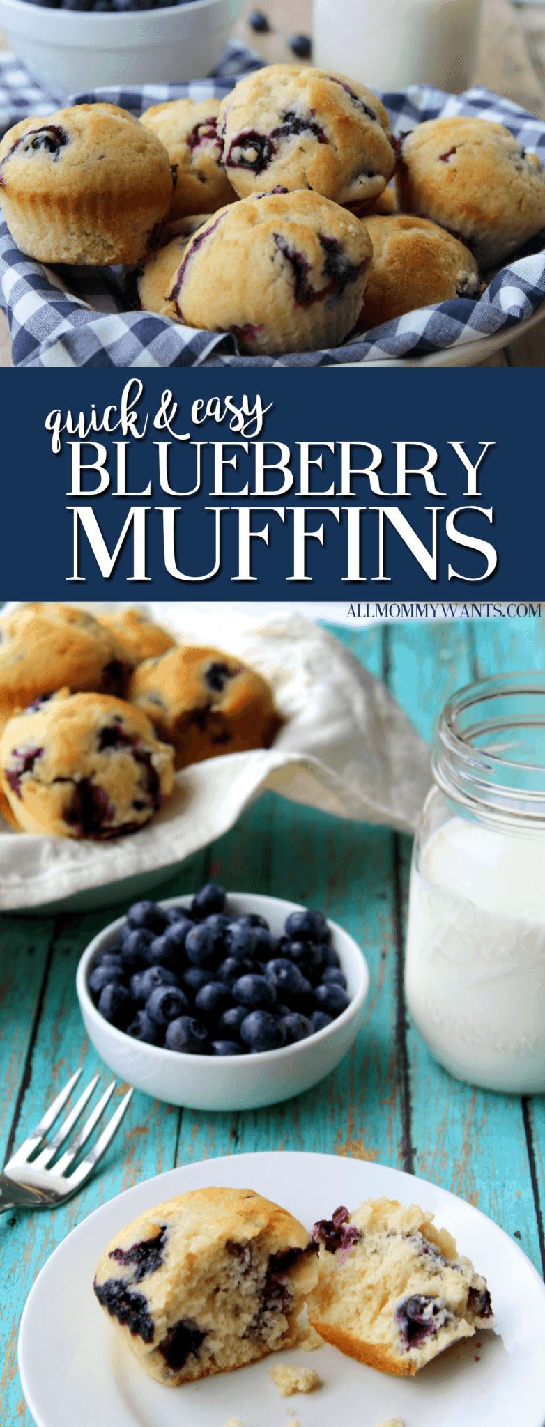 Recipe: Quick And Easy Blueberry Muffins