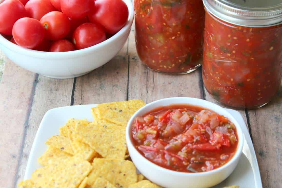 Slow Cooker/crock Pot Salsa Plus Canning Instructions