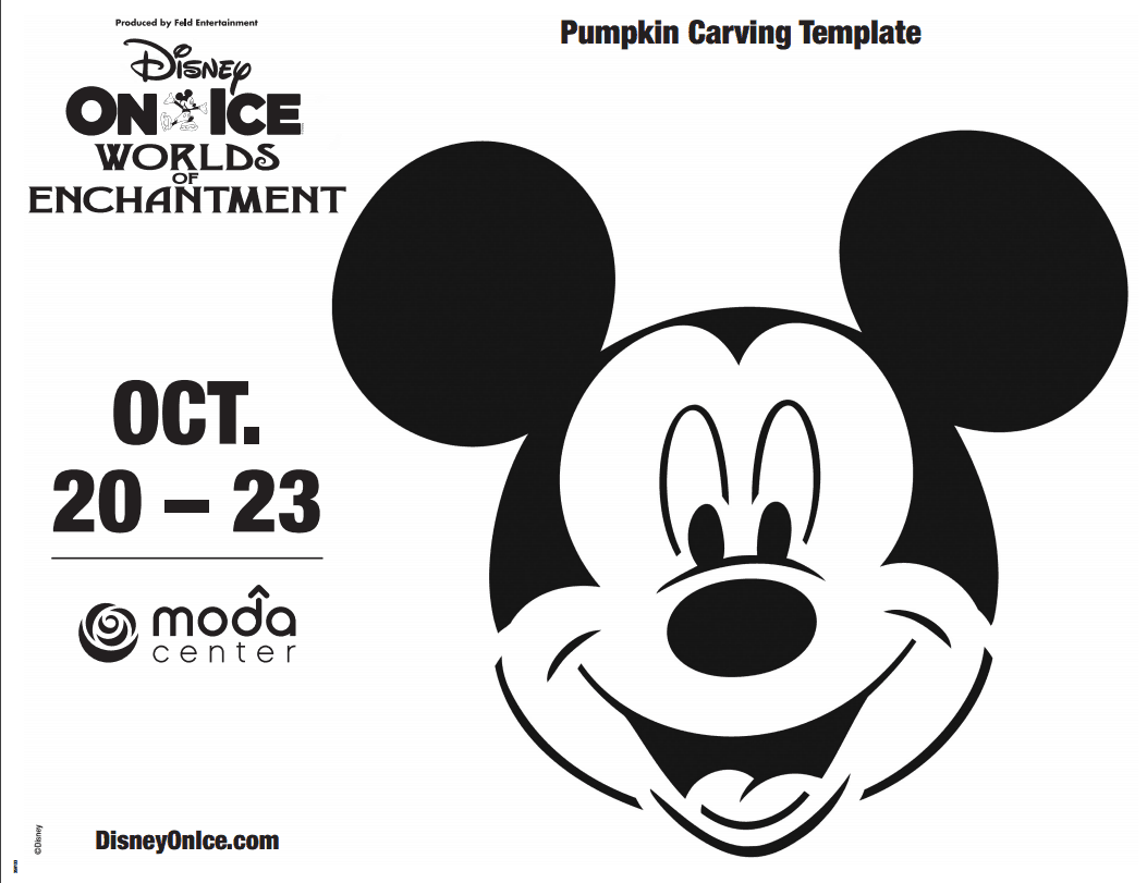 Printable: Mickey Mouse Pumpkin Carving Template