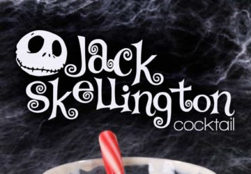 The Jack Skellington Cocktail (nightmare Before Christmas)