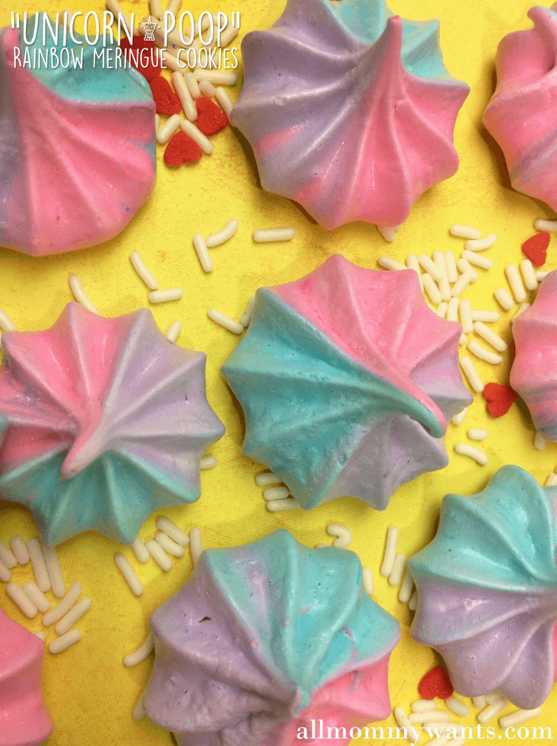 Recipe: Unicorn Poop Cookies (rainbow Meringue Cookies)