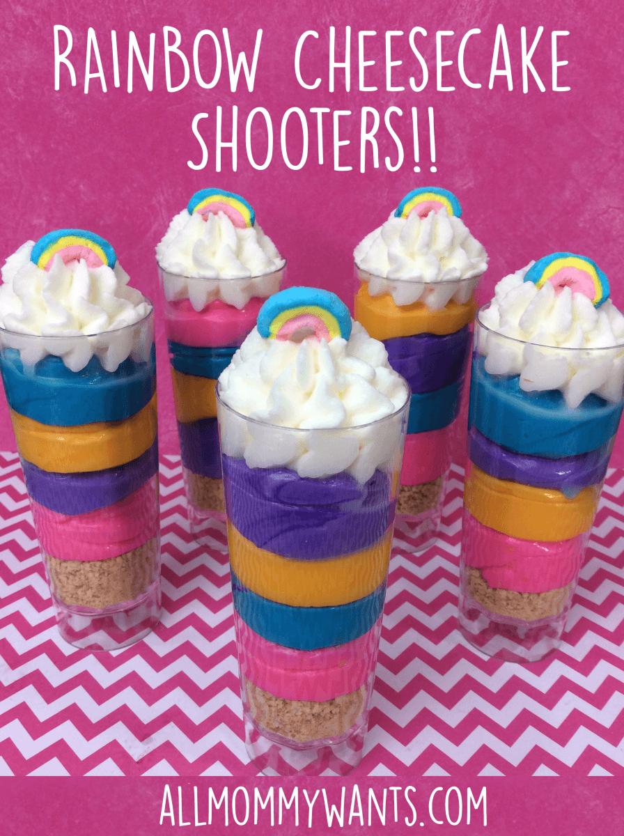 Recipe: Rainbow Cheesecake Shooters