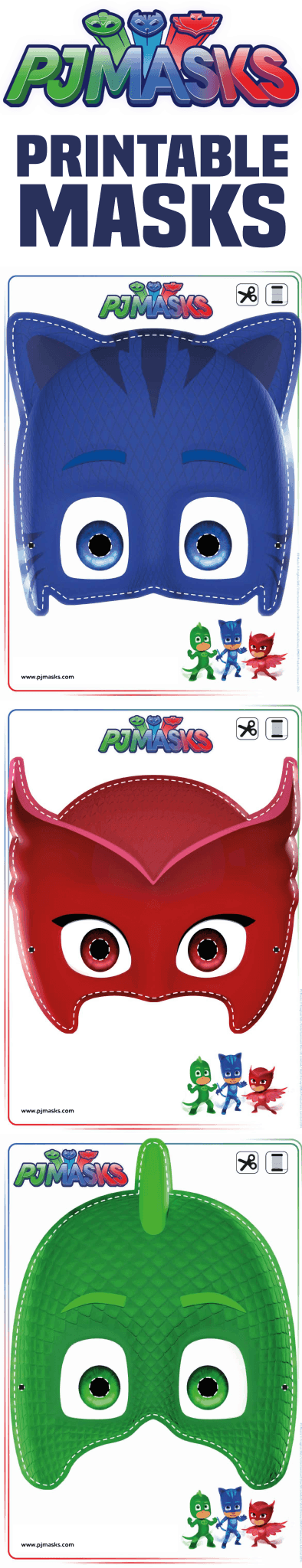 This is a photo of Pj Mask Printable pertaining to 4th birthday