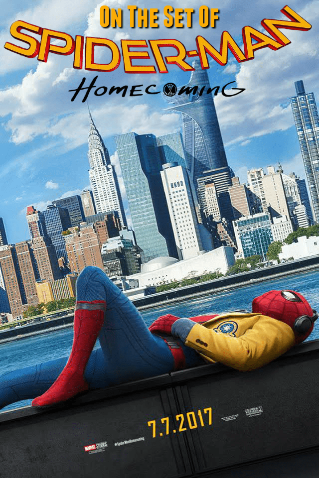 On The Set Of Spider-man: Homecoming With Tom Holland And Jacob Batalon