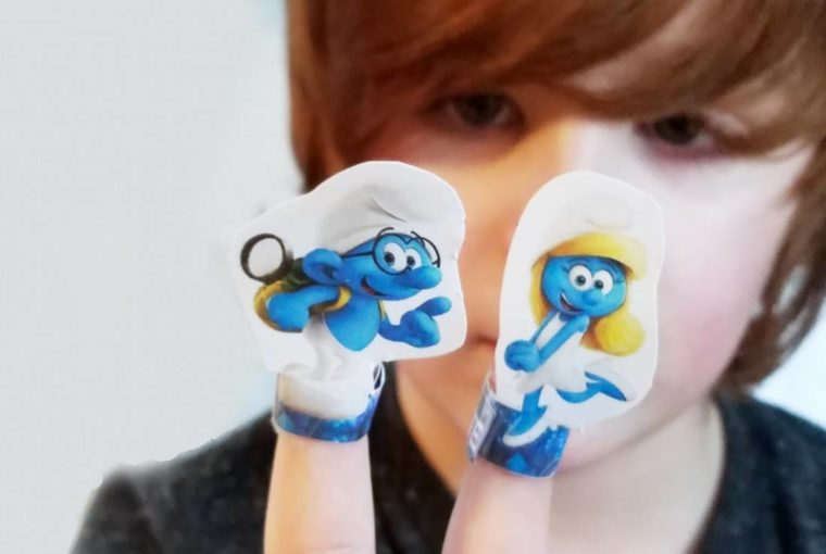 Smurfs: The Lost Village Review Plus Finger Puppets Craft (free Printable)