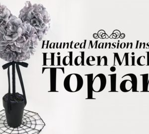 Diy – Haunted Mansion Inspired Hidden Mickey Topiary