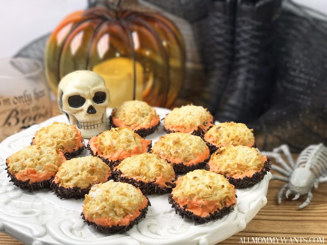 Coconut Macaroon Cookies With Chocolate & Sprinkles