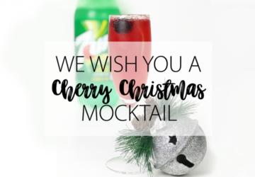 Cherry Christmas Mocktail Drink