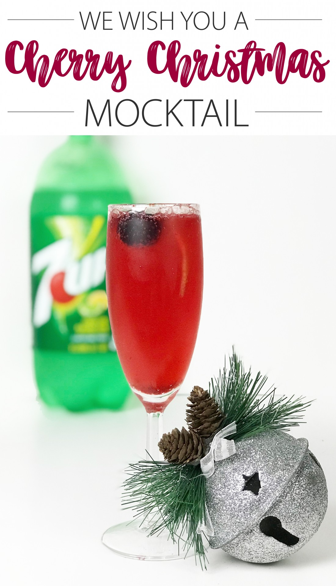 Cherry Christmas Mocktail Drink