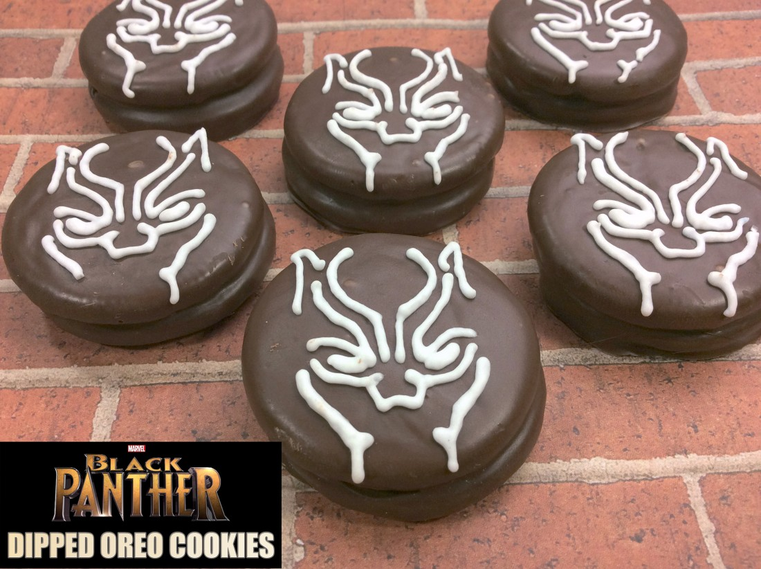 Recipe Marvel S Black Panther Chocolate Dipped Oreo Cookies Life